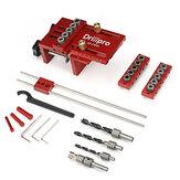 Drillpro 3 en 1 Kit de plantilla de clavijas de carpintería ajustable Localizador de guía de perforación de plantilla de agujero de bolsillo para perforadora de agujeros de conexión de muebles herramientas