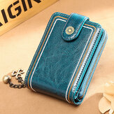 Women Genuine Leather RFID Anti Theft 9 Card Slots Wallet Purse