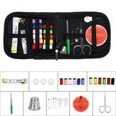 Kit de costura doméstica pequena para viagem de 41 unidades Caso Conjunto de tesoura de linha de agulha presente