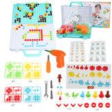 399PCS Giocattoli 3D creativi per trapano elettrico Set Foratura Vite Regalo per bambini giocattolo puzzle