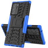 Bakeey для Samsung Galaxy Note 20 / Galaxy Note20 5G Чехол Armor Ударопрочный нескользящий с кронштейном Защитный стенд Чехол