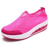 Tênis de Malha Feminino Sapatos Shook Comfortável Casual de Esportes ao Ar Livre