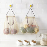 Multi-Function Fruit Wall Hanging Bag Oignon Ail Storage Household Kitchen Container Vegetable