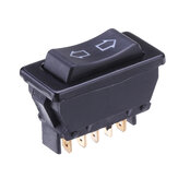 Universal DPDT Car Power Window Interruttore a bilanciere 5 Pin DC 12V 20A Plastica nera