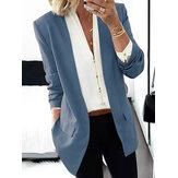 Blazer casual da donna classico con scollo a V stile classico OL da donna con tasca