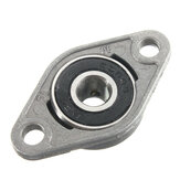 Machifit 8/10/12/15/17mm Bore Diameter Zinc Alloy Pillow Block Flange Linear Bearing KFL Series CNC