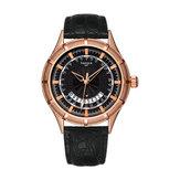 YAZOLE 447 Metal Case Texture Dial Calendar Men Quartz Watch