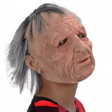 Halloween Old Man Scary Wig Mask Cosplay Scary Full Head Latex Mask Horror Party Mask