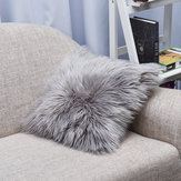 Sierkussen Hoes Kussen Hoesje Faux Fur Fluffy Pluche Soft Sofa Solid Home Decor
