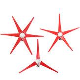 12V/24V 300W S3 Aluminum Shell 3/5/6 Blades Horizontal Axis Wind turbine Wind Generator Red