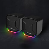 FANTECH GS202 Mini Magnet-free 3.5mm USB Plug RGB Lightning PUBG LOL FPS Gaming Stereo Music Speaker