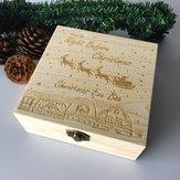 NoelArifesiKutuOyulmuşAhşapSüsler Ahşap Hediyelik Noel Çocuk Ahşap Noel Arifesi Kutu Noel Kar Motosikletleri