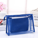 Honana BX-112 Waterproof PVC Cosmetic Bags Two-piece Suit Net Travel Makeup Transparent Bag