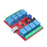 8CH Channel 12V Computer USB Control Switch Free Drive Relay Module PC Intelligent Controller