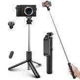 ELEGIANT EGS-04 Selfie Stick بلوتوث Mini Tripod Monopod تصميم متكامل خفيف الوزن لاسلكي مع التحكم عن بعد مراقبة لـ Gopro DSLR الة تصوير Mobile هاتف
