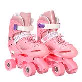 Kids Adjustable 4 Wheel Quad Roller Skates Boots Rollerblades For Childrens Adult