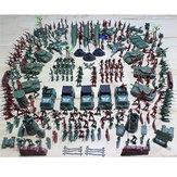 307UNIDS4-9CMmilitarSoldado Ejército Hombres Figura Traje de Edificio Modelo Para Niños Juguetes de Regalo de Los Niños