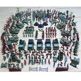 307PCS4-9CM子供のための軍の兵士の男のフィギュアの建物のスーツ子供ギフトのおもちゃ