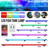 57/62/72/82/92/112 سم RGB LED حوض للأسماك ضوء بلوتوث التطبيق مراقبة
