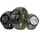 [chamada bluetooth] BlitzWolf® BW-AT2C 400mAh Bateria 24h Coração Monitor de taxa de pressão arterial Medida de oxigênio Pulseira de reprodução de música Mostradores de relógio personalizados Relógio inteligente estilo esportivo