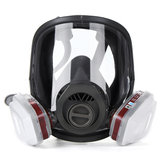 15 i 1 Full Face Gasmaske Facepiece Respirator Painting Spraying Mask 6800 Støv