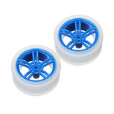 2Pcs 65*27mm Blue Rubber Wheels for TT Motor  Smart Chassis Car Accessories