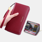 Women Long Large Capacity Genuine Leather Wallet Simple RFID Anti-theft 6.5 Inch Clutch Wallet Multi-card Slots Card Holder Purse