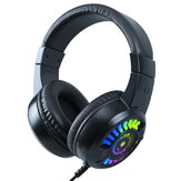 198I A7 E-sport Gaming Headset 50mm Unit 55mm Speaker Size Cool Lighting Built-in Microphone 3.5mm+USB Plug for PC