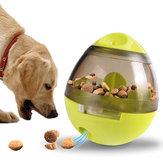 YaniCreativeEggShapeKubekPet Food Dispenser Dog Cat Toy Pet Training Interaktywna piłka dla średnich lub małych zwierzaków