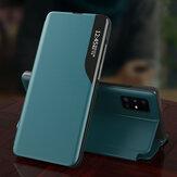 Bakeey için Samsung Galaxy A51 / Galaxy A71 Kılıf Manyetik Çevirme Akıllı Uyku Pencere Görünümü Darbeye Dayanıklı PU Deri Tam Kapak Koruyucu Kılıf