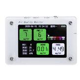 1Pcs A2 PM2.5 TVOC CO2 HCHO AQI Haze Formaldehyde Detector Monitor de Temperatura e Umidade com Cartão TF Suporte Função WIFI