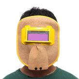 Capot en cuir de soudure de capot solaire de masque de soudure d'obscurcissement automatique de chapeau de chapeau