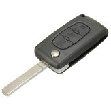3 Knop Light Remote Key Case w / Blade voor Citroen C4 C5 C6 C8