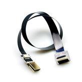 FPV Cavo HDMI piatto Sottile Standard HDMI a Mini HDMI Angolo di 90 gradi per FPV Gimbal