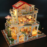 Hoomeda 13845 Varig som Universet DIY Dollhouse Med Music Light Cover Miniature Model