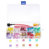 120Pcs Standard Blade Assorted Car Fuse Assortment Kits Sets 3A-40A & Tweezers