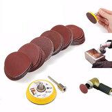 Effetool BG0300 2-calowa podkładka szlifierska 50 mm z haczykiem i pętelką 3 mm trzpień z 60-sztukowym papierem ściernym