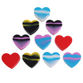 10Pcs 17ml Heart Pattern Mini Portable  Silicone Jewelry Ring Earrings Storage Box Pigment Container Pill Case Pillbox