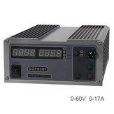 GOPHERT CPS-6017 0-60V 0-17A 220V 1000W High القوة رقمي Adjustable تيار منتظم القوة Supply