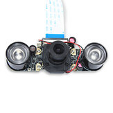 Night Vision Camera Module 5MP OV5647 72° Focal Adjustable Day and Night Switch Camera Board with Automatic IR-CUT