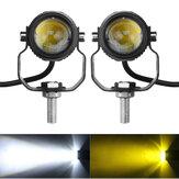 2 قطعة بقعة دراجة نارية ضوء LED مصباح قيادة الضباب الأمامي الأبيض ضد للماء