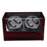 Devanadera automática del reloj Almacenamiento de joyería de fibra de carbono Caso Relojes Pantalla Caja 2 unidades