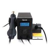 QUICK 715 2 в 1 паяльная станция горячего воздуха BGA Интеллектуальная цифровая станция Пайка с автоматическим режимом сна для телефона SMD BGA Ремо