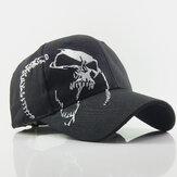 غسلت قبعة البيسبول الجمجمة بالأسى القبعات التطريز قبعة كاملة