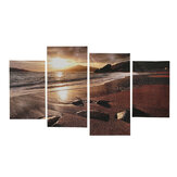 4Pcs Sunset Beach Canvas Painting Wall Decorative Landscape Stampa Immagini artistiche Decorazioni da appendere a parete senza cornice per Home Office