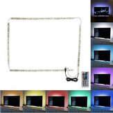 2*50cm+2*100cm USB LED Strip Light TV Backlight 5050 RGB Color Changing Lamp+24Keys/44Keys Remote Control