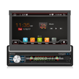 YUEHOO 7 Zoll 1 DIN Android 10.0 Autoradio Multimedia DVD-Player Einziehbarer Touchscreen Stereo 8 Core 4 + 32G WIFI 4G GPS Navigation FM AM RDS