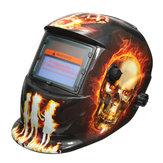 Hellfire Desen Solar Otomatik Koyulaştırma Kaynak Kaskı Maske Arc Mig Tig Öğütme 2 ile Lens