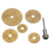 6Pcs HSS Circular Saw Blade Set 22-47mm Woodworking Cutters for Dremel Rotary Tools