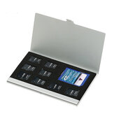 Memory Card Storage Case Holder Portable Storage Box Aluminum Alloy 9 Slots Box Protective Box for SD TF Card